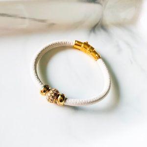 Henri Bendel White Leather Bracelet